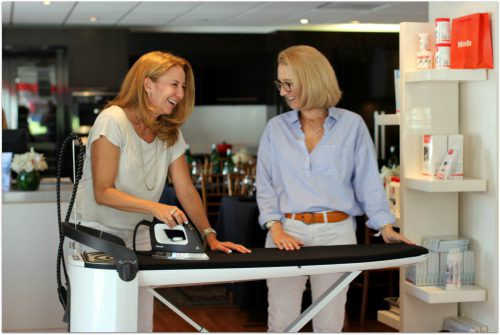 We started to use the Miele Ironing system and then burst into laughter after realizing that we'd just driven across town to do chores! www.WeAreMidlife.com