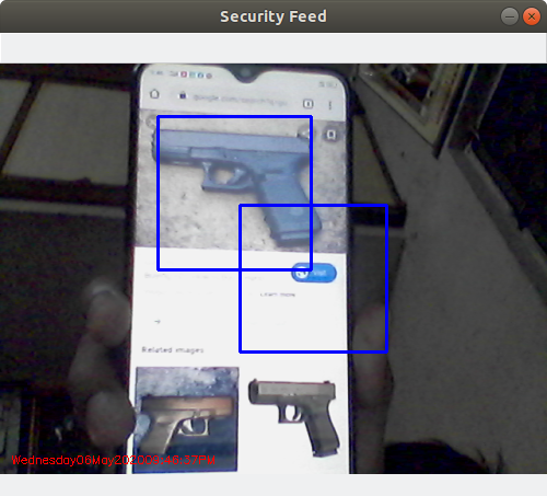 Gun Detection in Video Feed on Phone