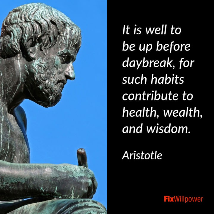Aristotle quote rising early