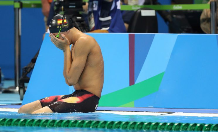Spain's Miguel Duran Navia thought a false start cost him a chance to swim in the Olympics (AP)