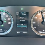Gliding along on electricity at 70 mph in the 2016 Hyundai Sonata Hybrid