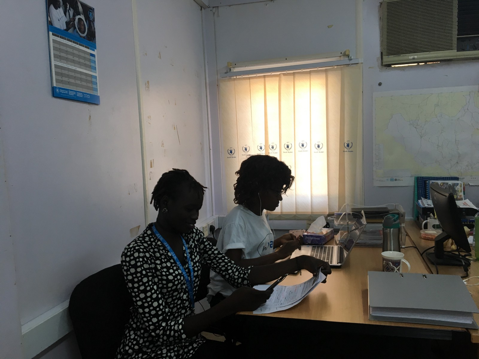 Our South Sudan mVAM operators at work (WFP/Angie Lee)