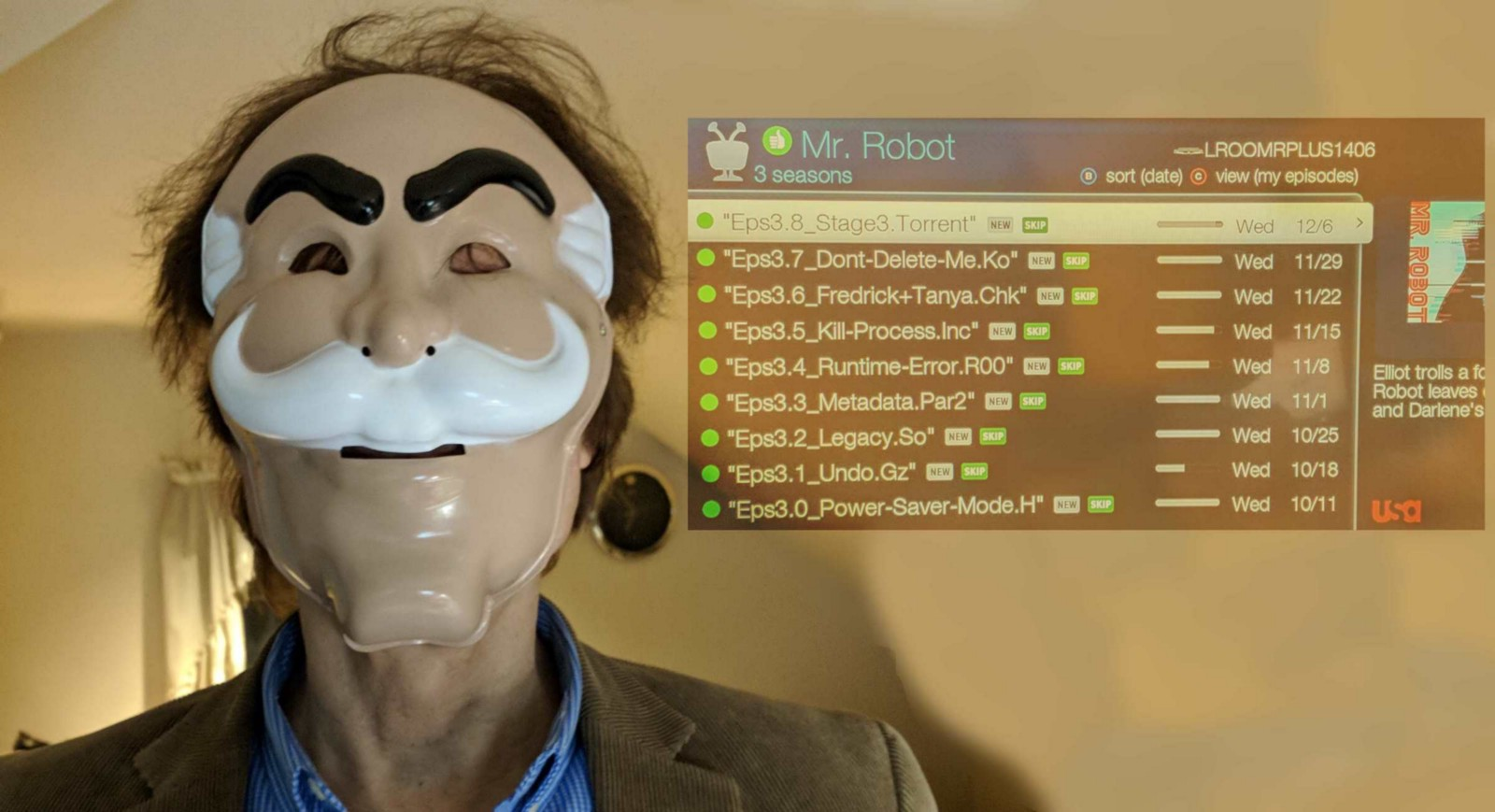 Photo of audience member in Society Mask