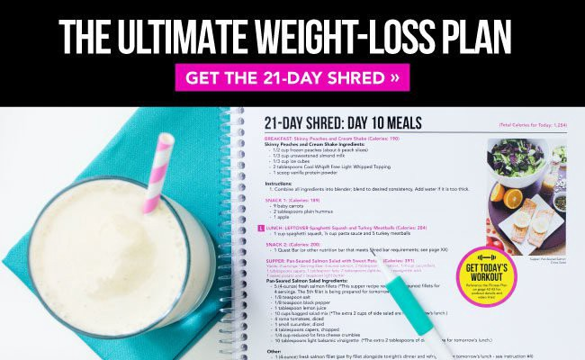 in-content ad shred shake