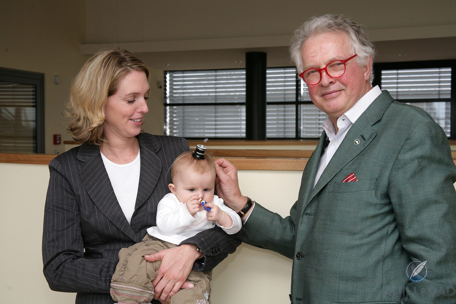 Gerd-Rüdiger Lang with daughter Natalie and grandchild