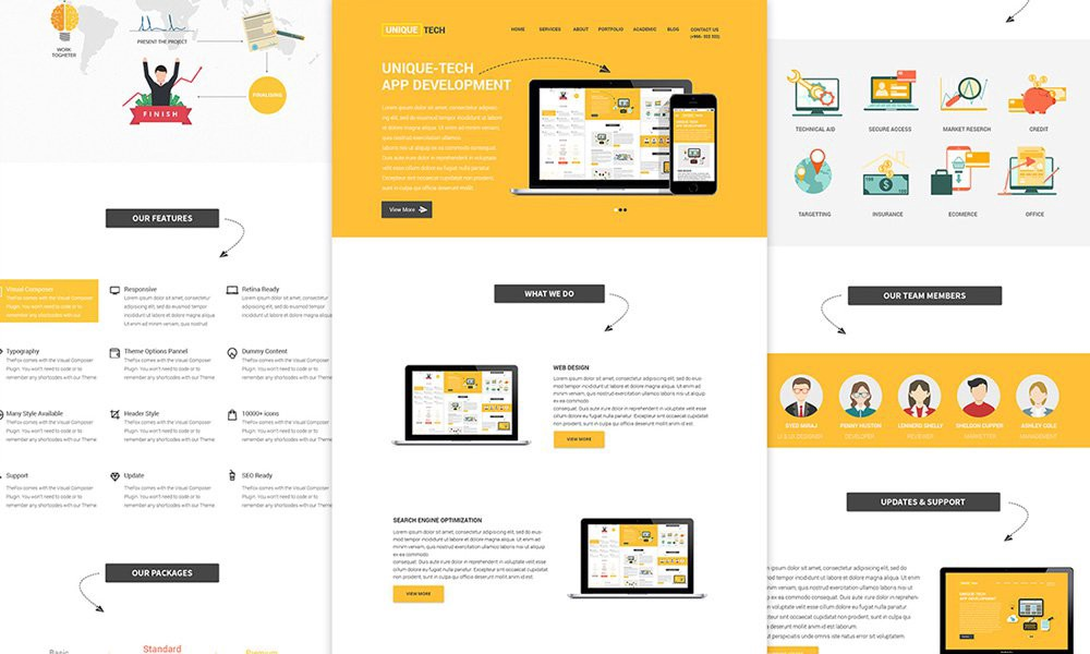 Free psd html web templates web design tips tricks medium brandly free one page web template psd pronofoot35fo Images