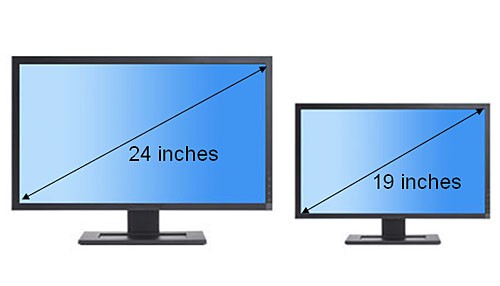 Image result for monitor size