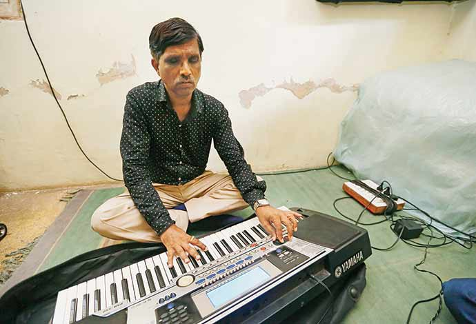 """""""It is due to our love for music and empathy towards our blind brethren, who despite qualifications don't get jobs"""" - Gautam Kamble"""