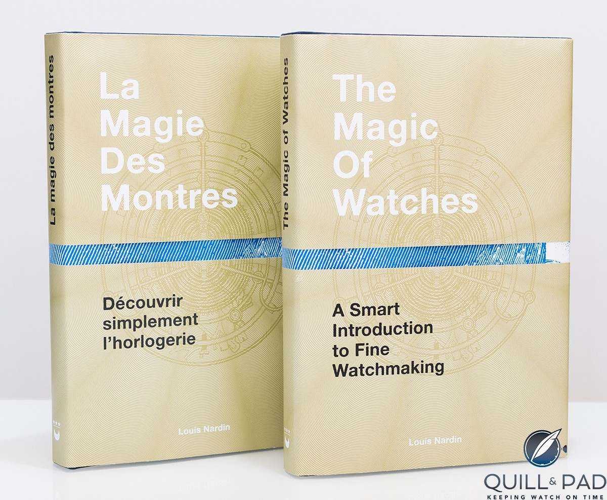 The cover of 'The Magic of Watches,' available in English and French