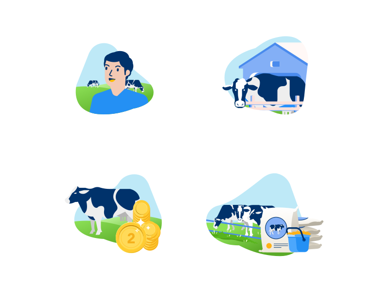 Agricultural investment icon set by Winandra Adnan