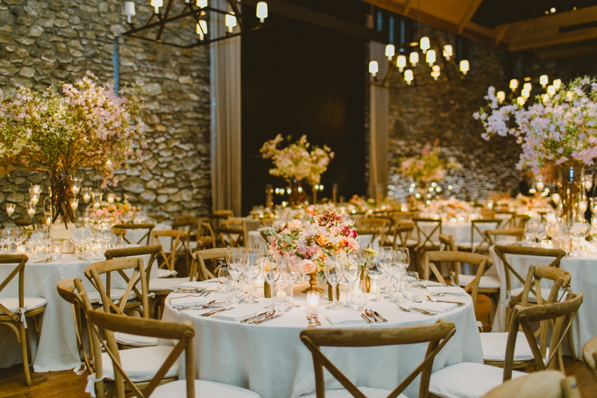 wedding reception - http://ruffledblog.com/modern-country-meets-secret-garden-wedding