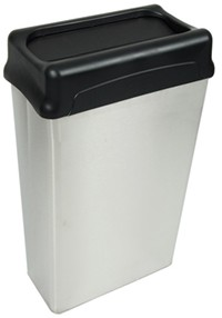 matching the look of a trash can to its surrounding environment can help your office stay tidy while looking stylish