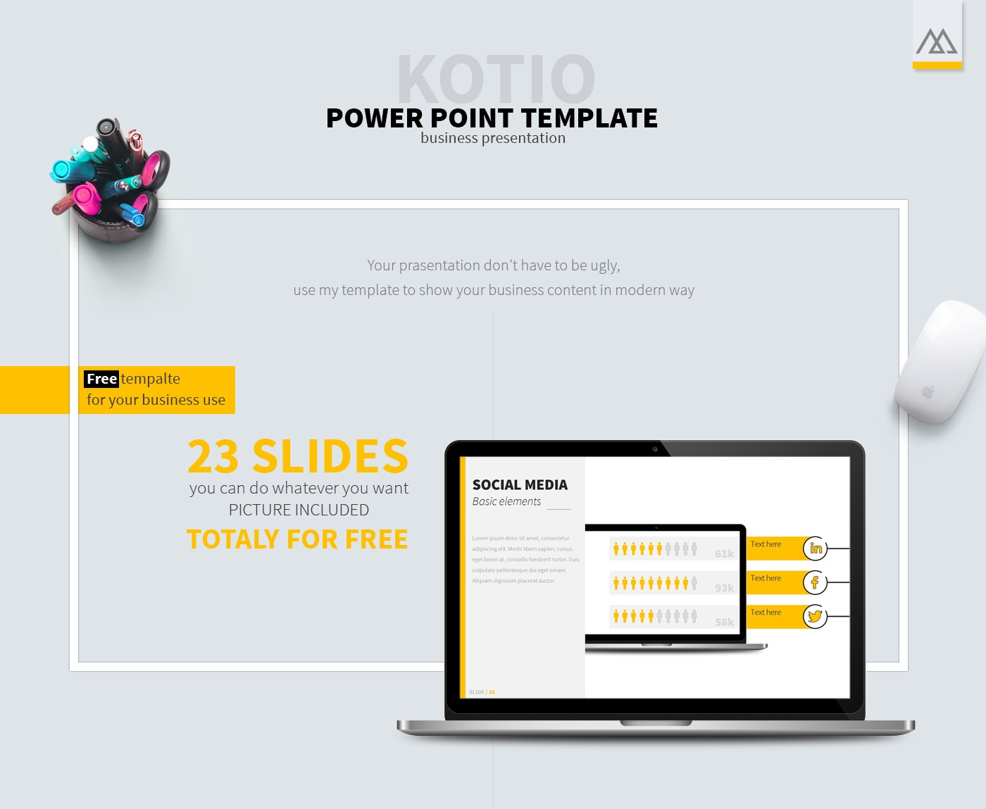 40 free cool powerpoint templates for presentations you can customize every slide to fit your presentation and its ready to use photos are easy to access therefore no time wasted accmission Images