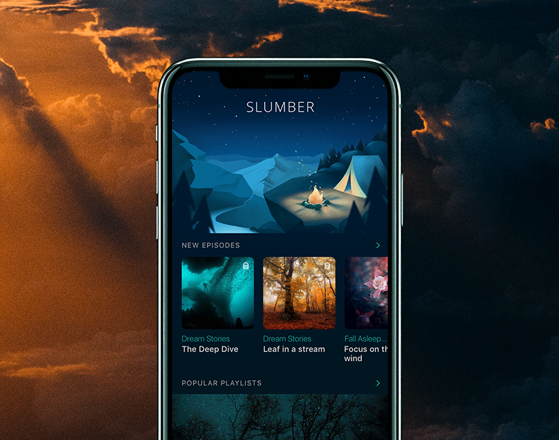 Amazing The Home Screen Featured New Episodes And Popular Playlists. The Tab Bar  Linked The User To The Core Functionality Zones Of The App: Home Page,  Library, ...