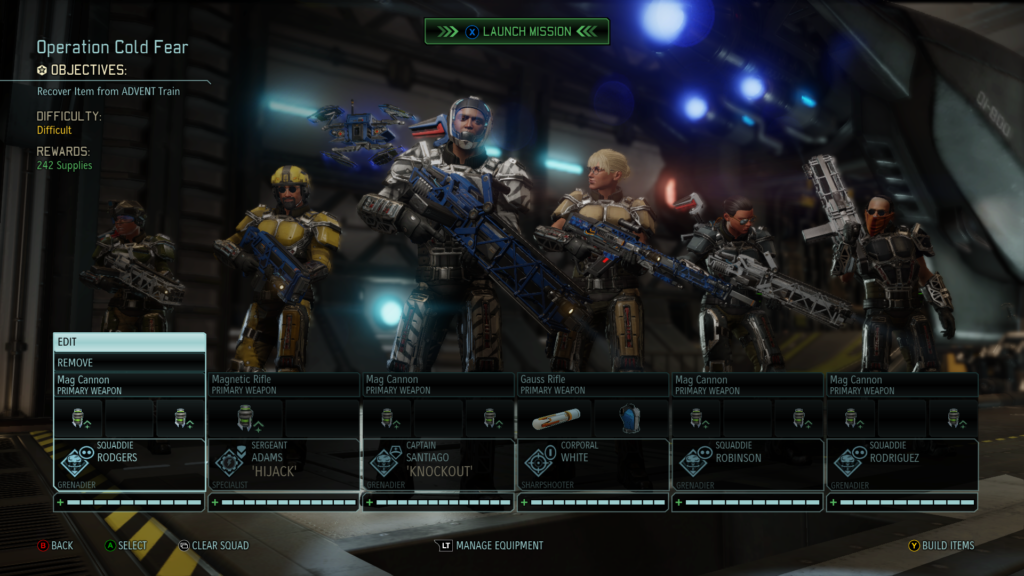 Preparing to choose the best loadouts for a mission.