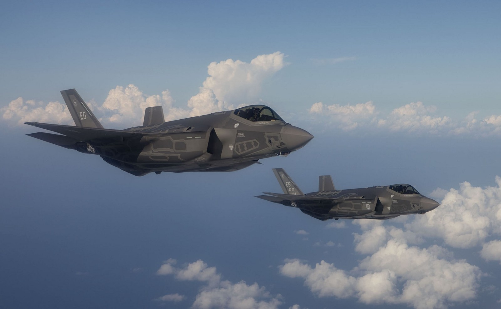 Two of the Air Force's up-coming F-35 stealth fighters. Air Force photo