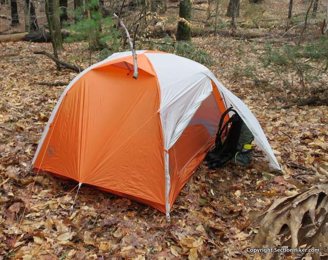 The inner tent doors are cut large so you can get past gear stored in the vestibules without having to crawl over it