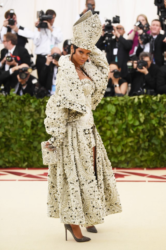 b8c9264e Rihanna has established herself as the queen of the Met Gala. Her arrival  signaled a statement amongst the celestial gowns at the gala.