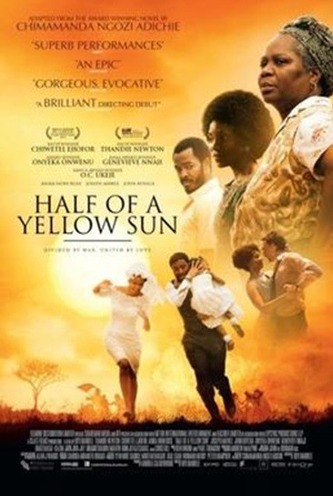 Half of a Yellow Sun is a 2013 Nigerian Historical fiction - drama film directed by Biyi Bandele and based on the novel of the same name by Chimamanda Ngozi Adichie. The film is a love story that follows two sisters who are caught up in the outbreak of the Nigerian Civil War. Starring Chiwetel Ejiofor, Thandie Newton, Onyeka Onwenu, Anika Noni Rose, Genevieve Nnaji, OC Ukeje and John Boyega. The film premiered in the Special Presentation section at the 2013 Toronto International Film Festival. The movie brought lots of light into the Nigerian Civil War and the way with which the story was told, Biyi won the hearts of so many and opened a new gateway for Chiwetel Ejiofor. Though it wasn't his first movie but it was his first Nigerian Movie and he did an excellent job.
