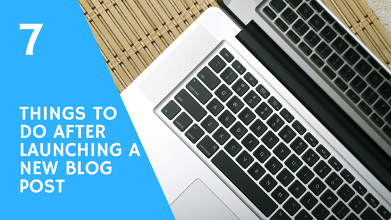 7 Things to Do After Launching a New Blog Post