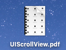 A screenshot of an icon on the OS X desktop called UIScrollView.pdf.