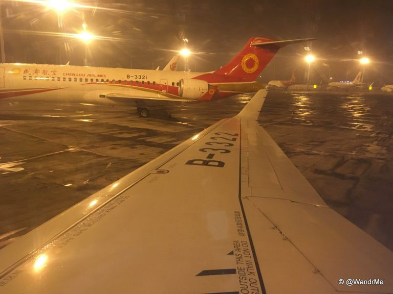 View out the window, including the other ARJ21 that's in service these days.