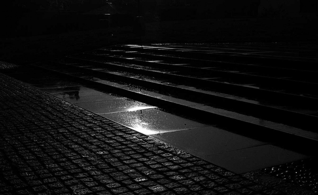 Low-Key Photograph: After Rain, Exeter. Rod Fleming 1980