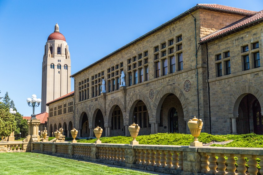 A portion of Stanford University's renowned campus is located in Palo Alto, CA.