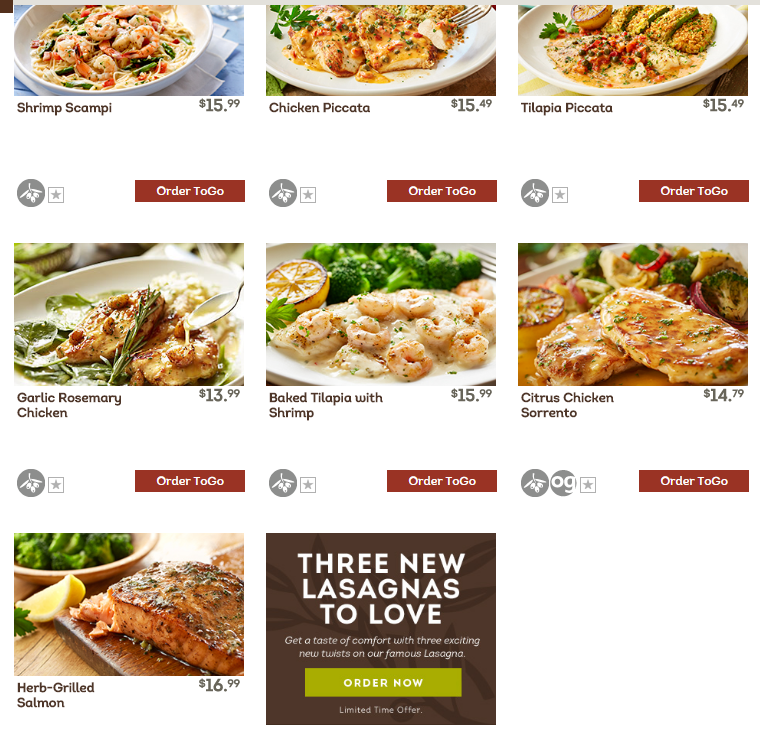 6 Dishes Health Nuts Order At Olive Garden