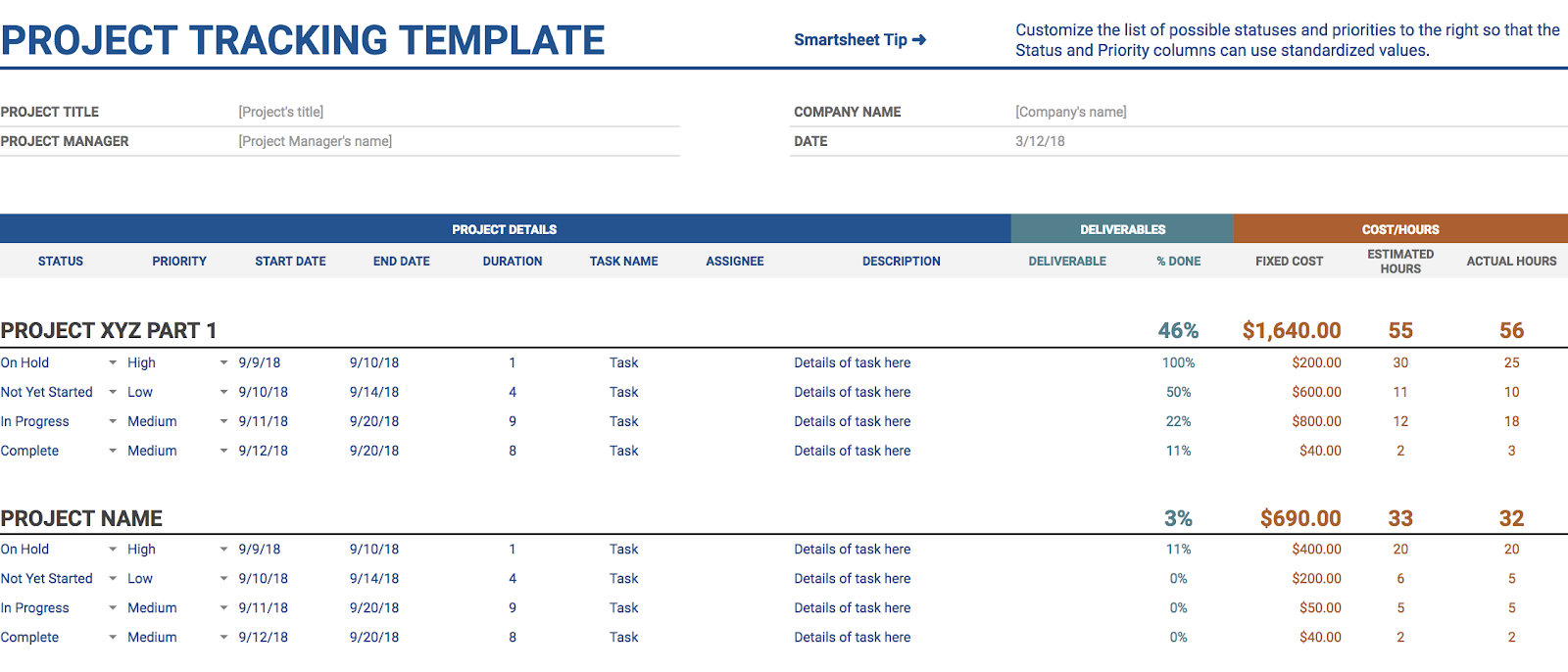 10 google sheets templates to help you run your startup