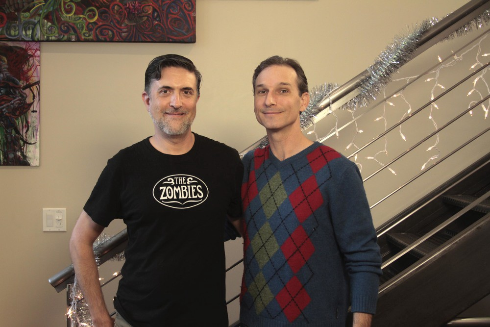 Operations Director, Peter Jacques and actor, Aaron Clouden