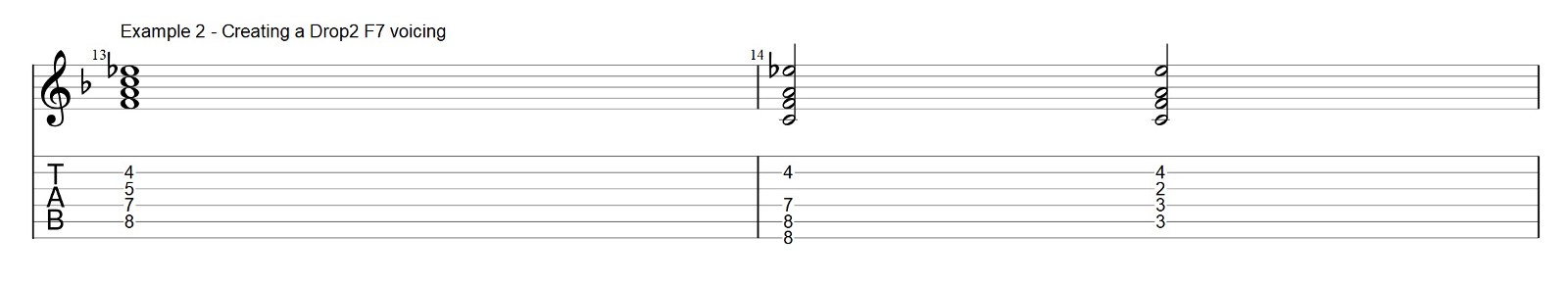 How to use Drop 2 Chords on a Jazz Blues — Bebop Skill