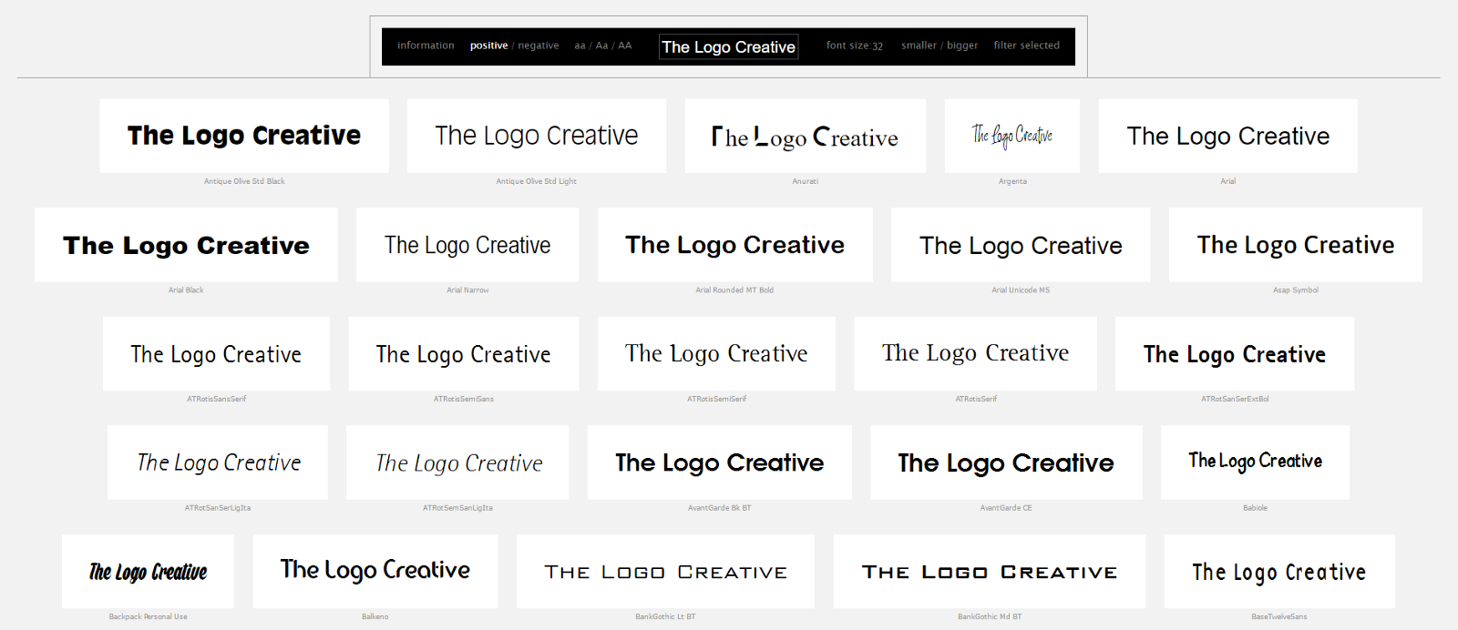 wordmark it to Help Choose Fonts From Your Library – The Logo
