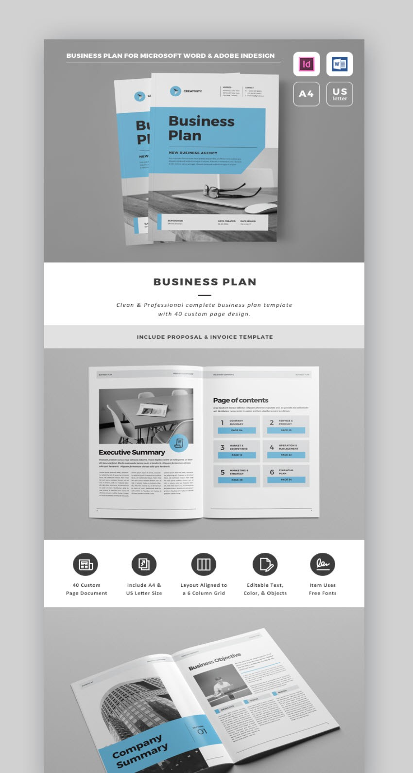 business plan with professional proposal template