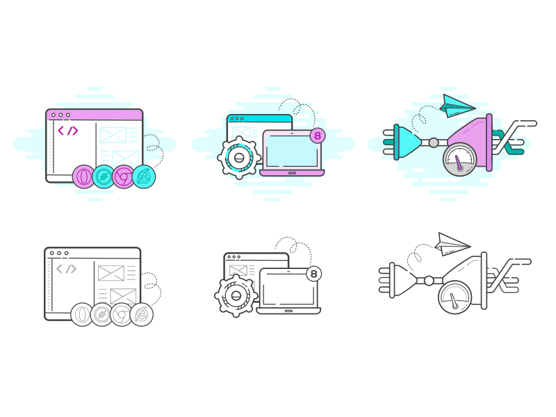 Icons for libp2p website by Agata Krych