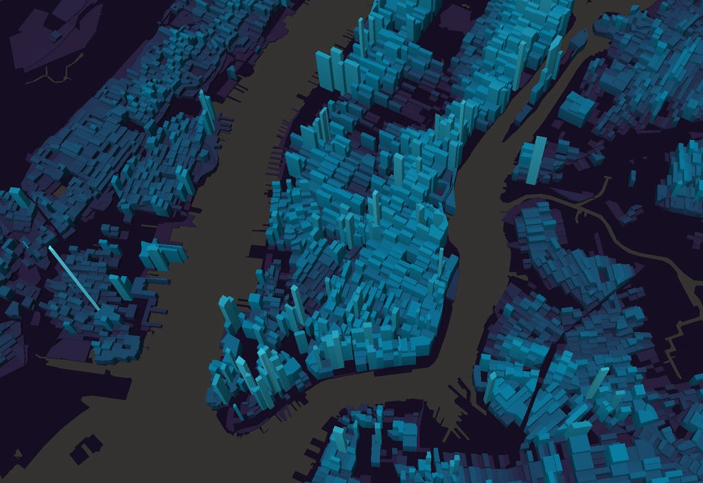 3d Is Uniquely Well Suited To This Dataset Because The Height Of Each Shape Represents Population Density And The Volume Is Proportional To The Raw Count