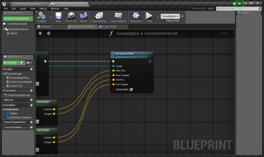 Ue4 understanding splines christian sparks medium this sets the start and end points of the mesh or meshes in order to access this node youll need to drag off of the return value on the add spline mesh malvernweather Image collections