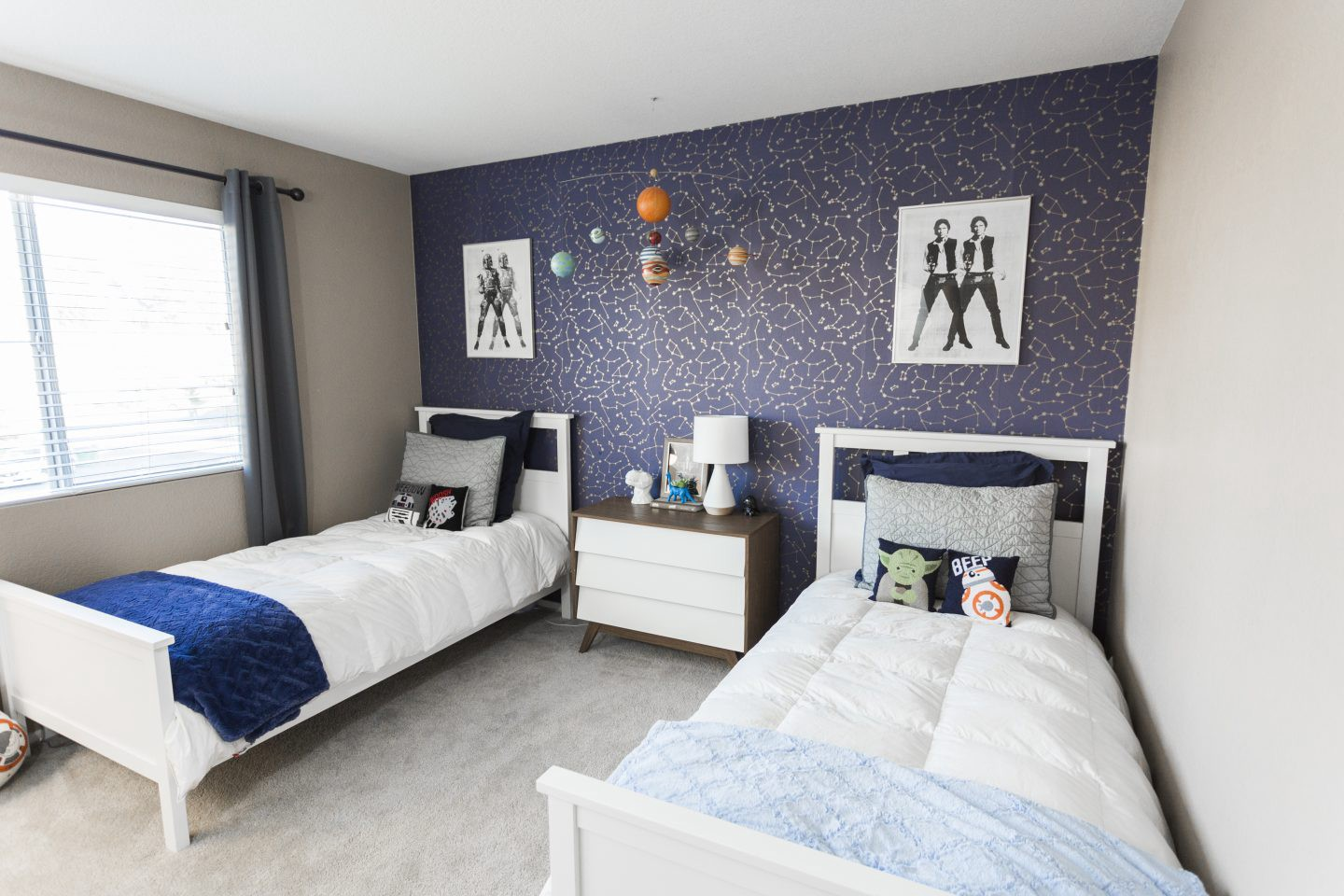 Outer Space Star Wars Bedroom Ideas featured by top Orange County lifestyle blog, Dress Me Blonde