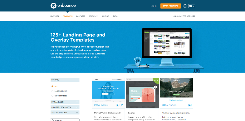 20 ways to create a landing page without knowing how to code ascreen shot of the site\u0027s main page