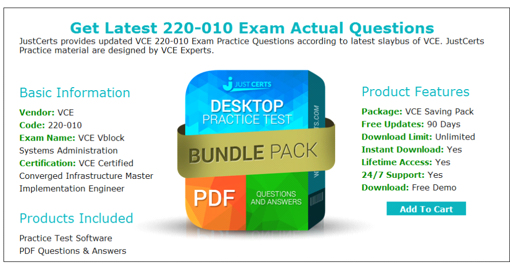 Vce Vblock Systems 220010 Exam Preparation Material For Best Results