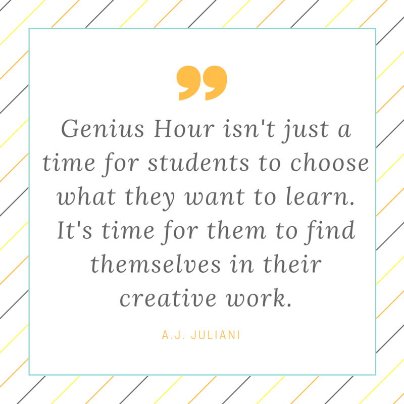 Getting Started With Genius Hour via @ajjuliani