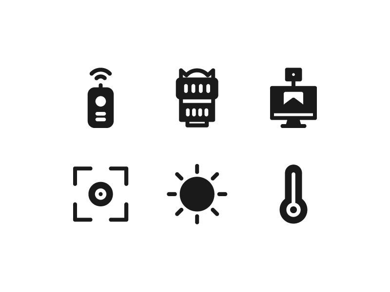 Camera icon collection by Inipagi Studio