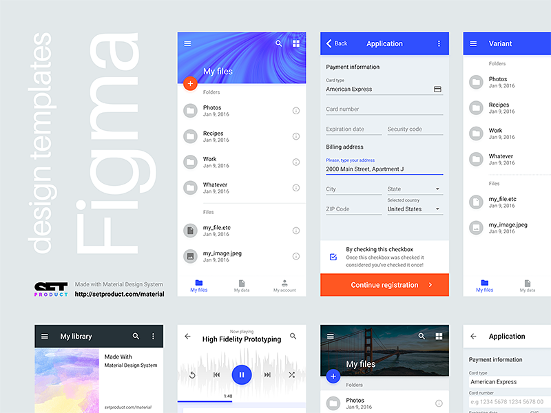 if you want to use full power design system including this app templates check out setproductcom for more digital products made exclusively for figma - App Templates Free