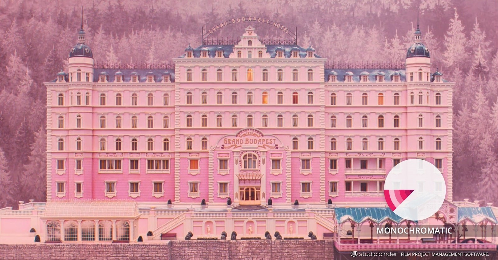 How to Use Color in Film – Example of Movie Color Palette and Schemes – Monochromatic – Grand Budapest Hotel-min