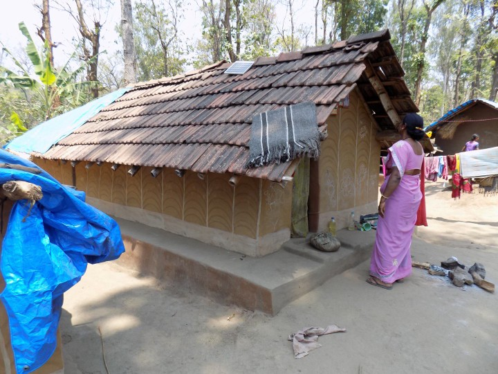 Gange-Mary, a Pipal Tree activist, examines Gange's daughter's home within the Mane Moole Hadi hamlet