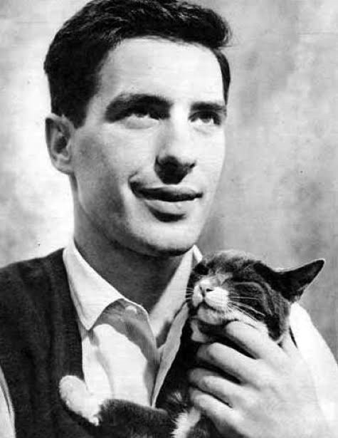 John Cassavetes with a cat