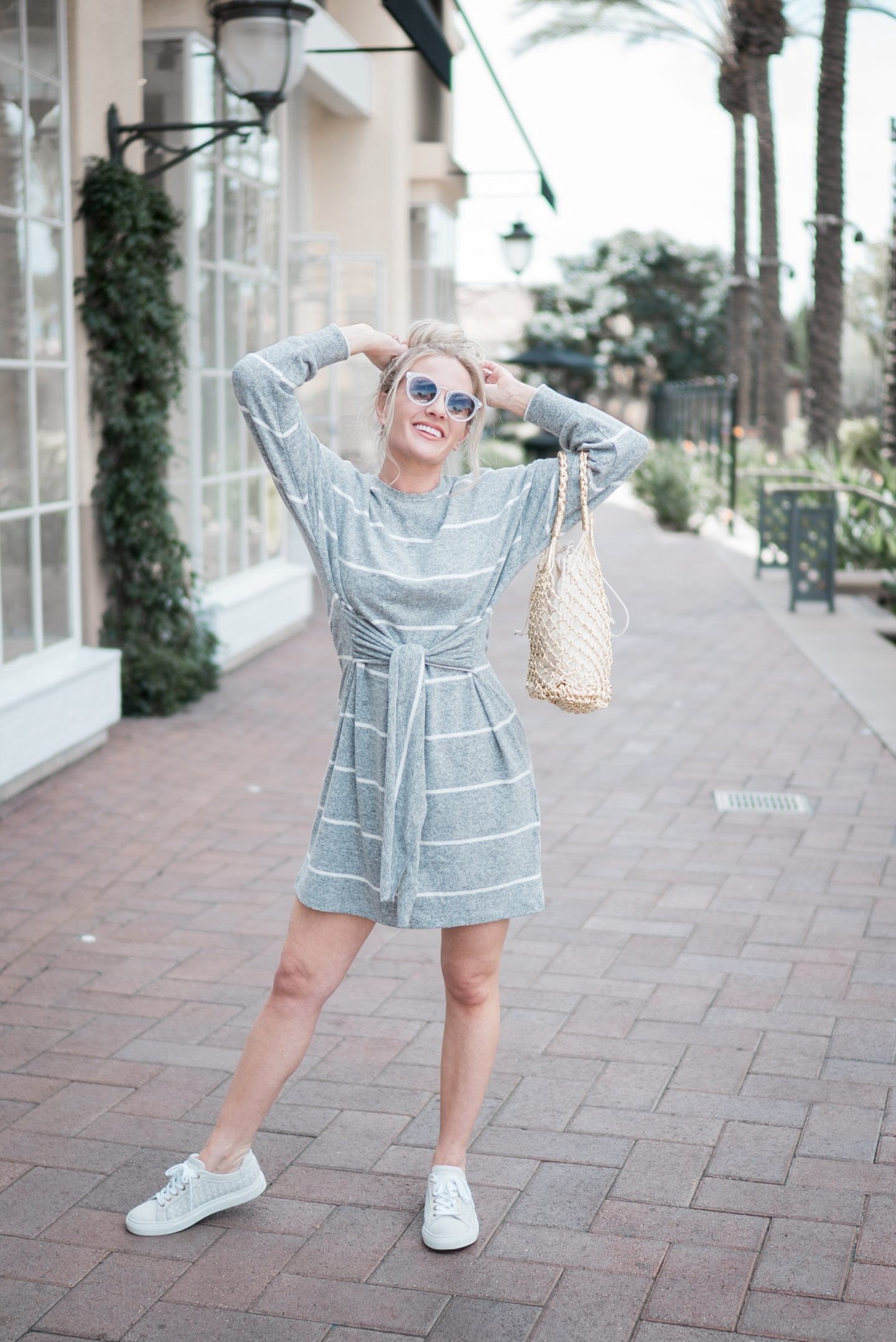 A Casual Mini Dress For Casual Days by popular Orange County fashion blogger Dress Me Blonde