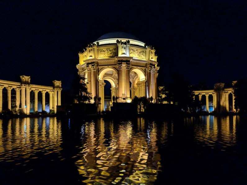 Palace of Fine Arts at night, Gems of San Francisco, USA -- gonewithawhim.com // Postcards from San Francisco, California