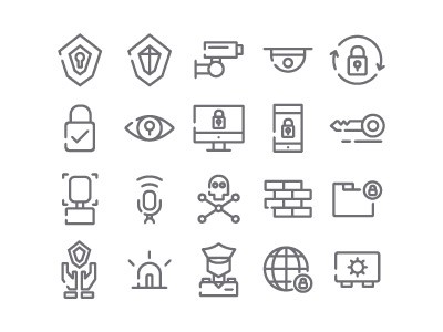 Security Icon set by Ruslan Dezign