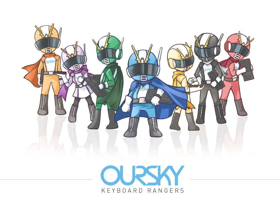 oursky keyboard rangers 9gag